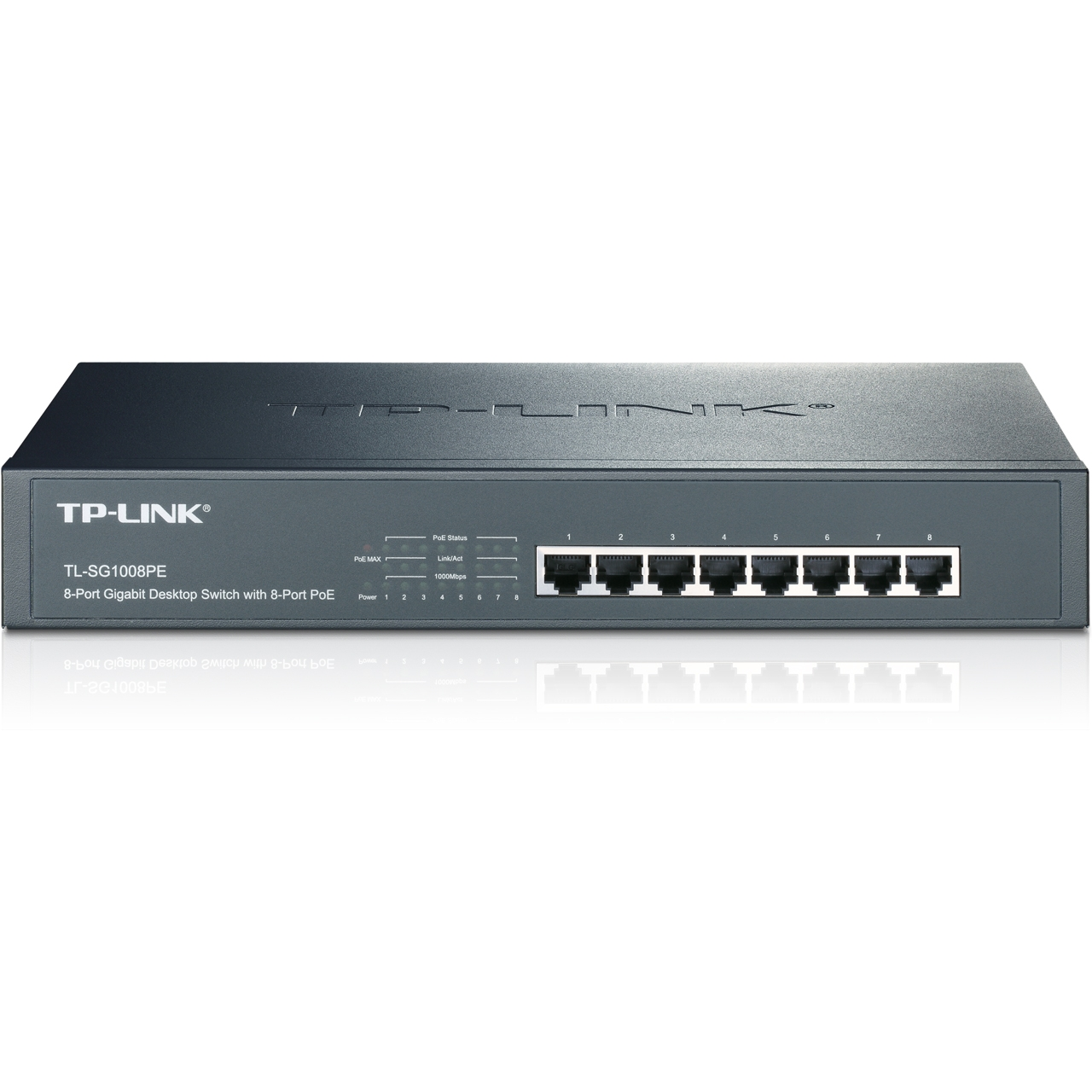 Switch de bureau rackable 8 ports Gigabit PoE TL-SG1008PE TP-LINK